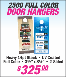 Lets Print Baby, Door Hangers, Printing, Woodbridge, NJ, Middlesex County